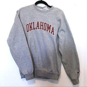 Oklahoma OU Champion Gray crewneck sweater size m